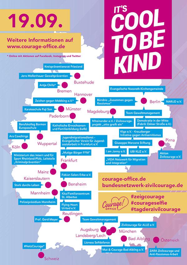 Tag der Zivilcourage 19.9.19, Aktionen in Rheinland-Pfalz